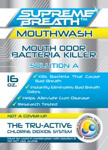 supreme breath active chlorine dioxide mouthwash