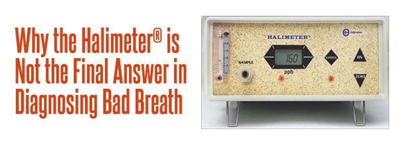 halimeter for diagnosing bad breath